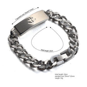 nautical anchor  stainless steel fashion chain bracelet