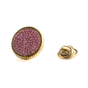 Starry Sky Full Pink Crystal Gold Stainless Steel Lady Women Brooch