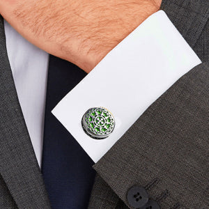 Retro Palace Court Flower Vine Carving Stainless Steel 316L Cufflinks For Gentry Tuxedo Business Formal Shirts