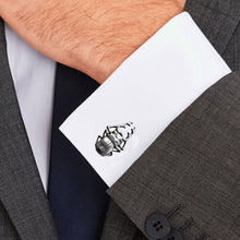 Load image into Gallery viewer, Casting Beetle Insect Black Matte Stainless Steel 316L Cufflinks For Tuxedo Business Formal Shirts