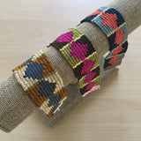 bracelet loom diamond weave pattern