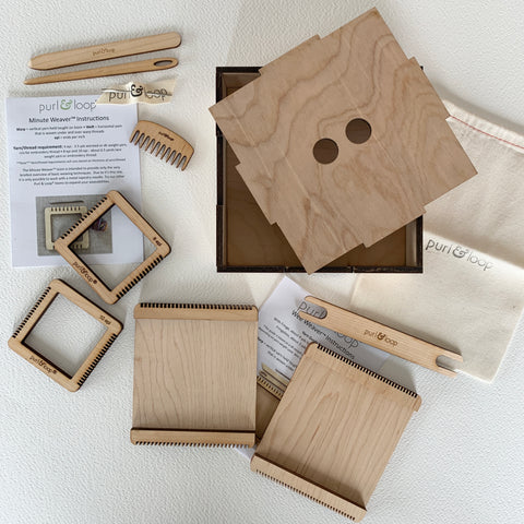 Special Edition Wood box with Wee Weavers and Minute Weavers