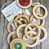 "Large ornament pack includes ten 3"" Round Weavers"