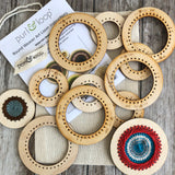 "Medium ornament pack includes five each 2"" and 3"" Round Weavers"
