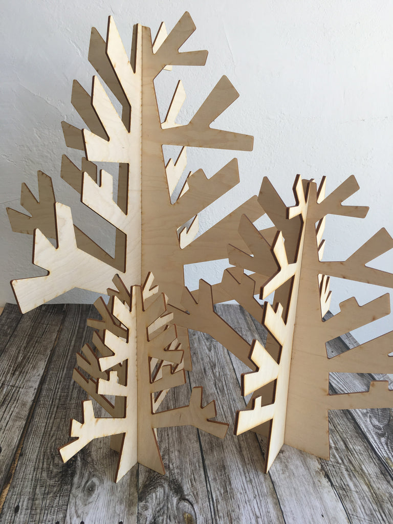 Wood Display Trees
