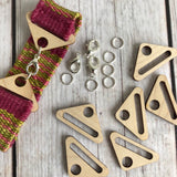 Wood findings and hardware finish off your handwoven bracelet.