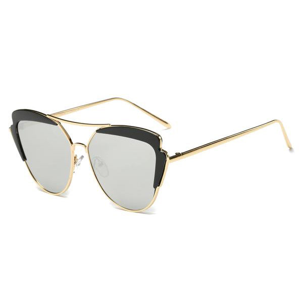 Round Black Angle Cat's Eye Sunglasses