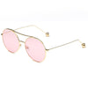 Classic Circle Tinted Lens Sunglasses