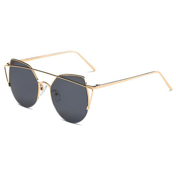 Lineal Cat Eye Mirrored Sunglasses