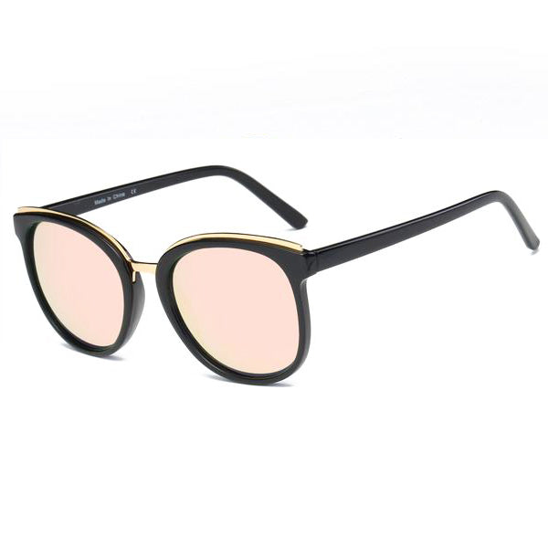 Vintage Metal Round Cat's Eye Sunglasses
