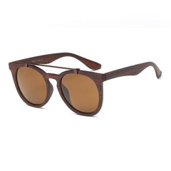 Unisex Brow-Bar Retro Oversized Sunglasses