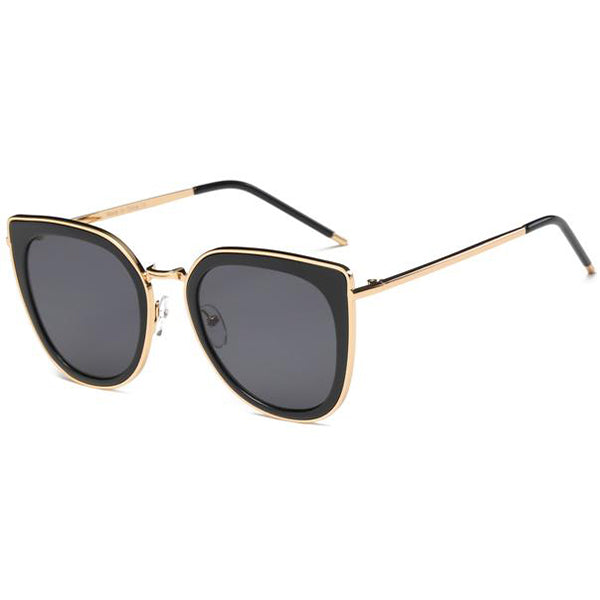 Metal Round Cat's Eye Sunglasses