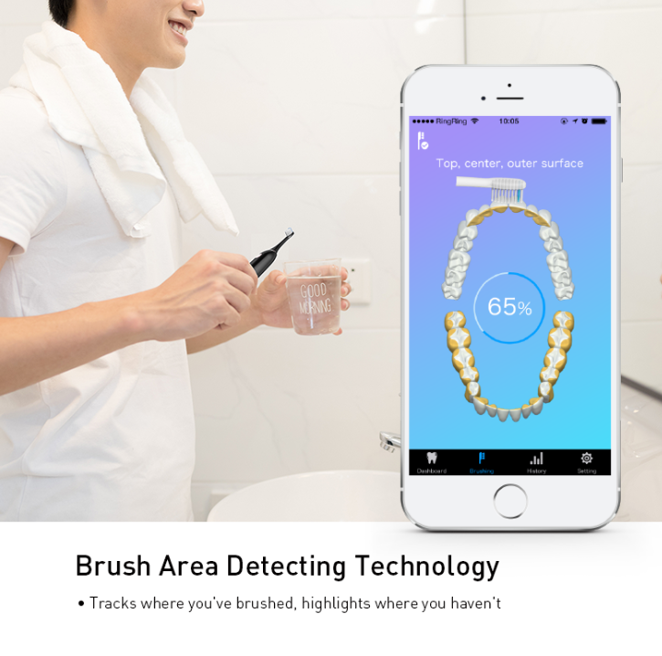 AMERIDENT 35K SMART BLUETOOTH SONIC TOOTHBRUSH APP
