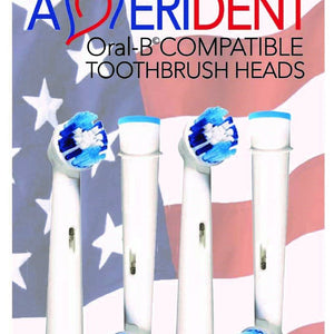 PACK OF 4 - ORAL-B COMPATIBLE TOOTHBRUSH HEADS