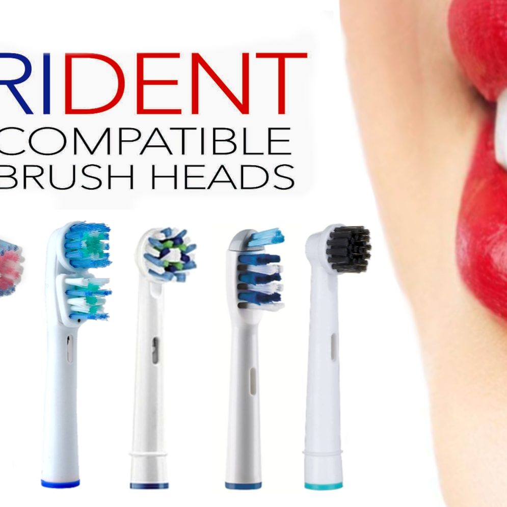 PACK OF 4 ORAL B COMPATIBLE TOOTHBRUSH HEADS
