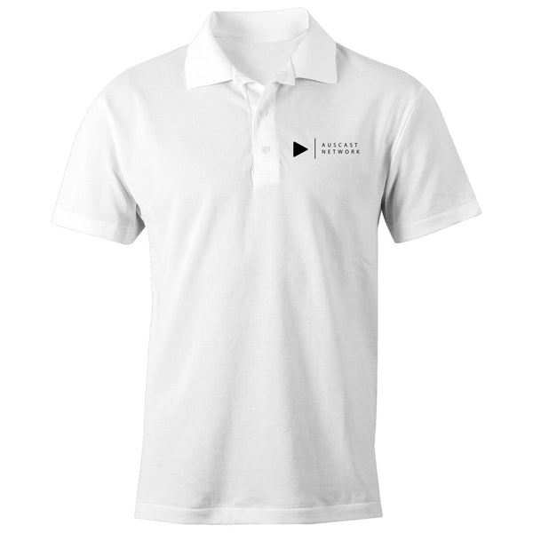 Auscast Network (black logo) - AS Colour Chad - S/S Polo Shirt
