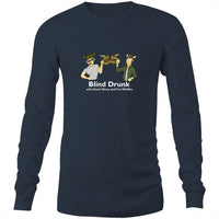 Blind Drunk podcast - AS Colour Base - Mens Long Sleeve T-Shirt (White font)