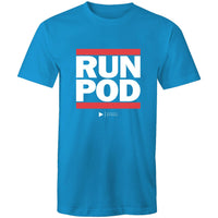 RUN POD (White font) AS Colour Staple - Mens T-Shirt