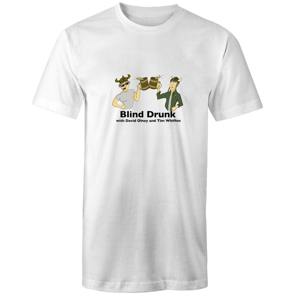 Blind Drunk podcast - AS Colour - Tall Tee T-Shirt (Black font)