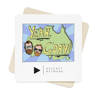 Yeah G'day Square Paper Coaster Set - 6pcs
