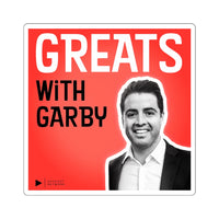 Greats with Garby Square Stickers