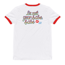 Load image into Gallery viewer, Babeteeth I'm Not Your Babe, Babe Red Ringer T-Shirt