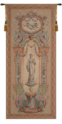 Portiere Statue with Border French Tapestry