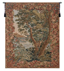 View of The Verdure Castle  European Tapestry