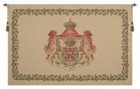 Lion Crest Beige Medium European Tapestry