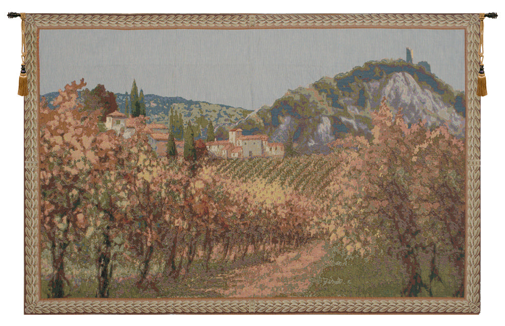 View of Italian Vineyards European Tapestry