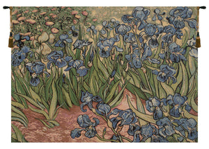 Iris Small by Van Gogh Italian Tapestry Wall Hanging