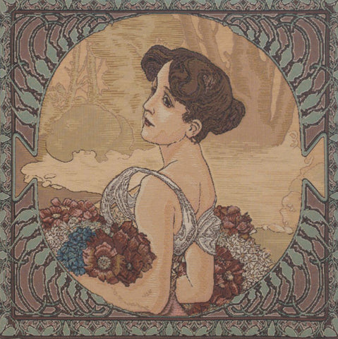 Mucha Summer II Old Style European Cushion Cover