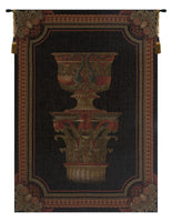 Urn on Pillar Black Small European Tapestry