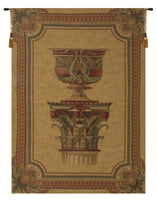 Urn on Pillar Gold Large European Tapestry