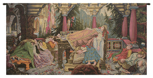 Sleeping Beauty Italian Horizontal Italian Tapestry Wall Hanging