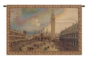 San Marco Square Small Italian Tapestry Wall Hanging