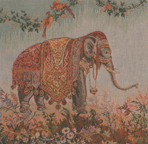 Elephant I Small French Tapestry Cushion