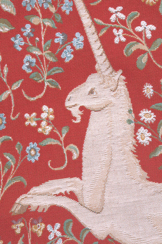 Licorne Fleuri French Tapestry Cushion