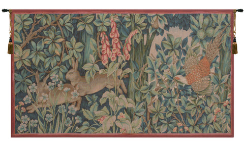 Hare and Pheasant French Tapestry