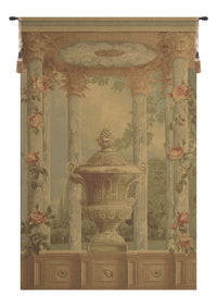 Urn with Columns Brown Small European Tapestry