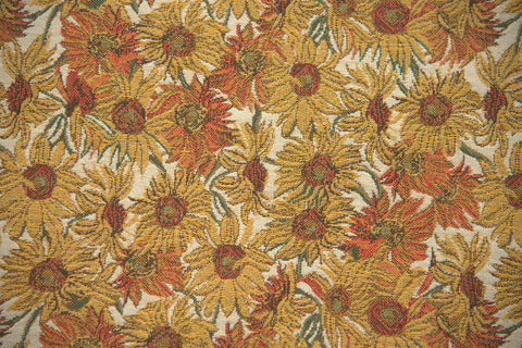 Sunflower Round Belgian Throw