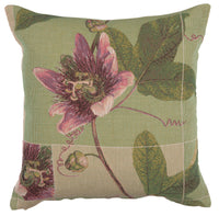 Springtime Blossom Green French Tapestry Cushion
