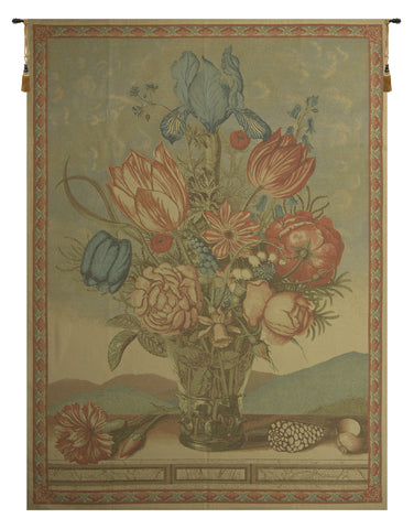 The Grand Bouquet Beige European Tapestry