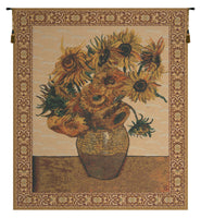 The Sunflower Beige Belgian Tapestry
