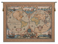 Maritime Map Large French Tapestry