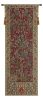 The Tree of Life Portiere Red Belgian Tapestry