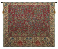 The Tree of Life Forest Red Belgian Tapestry