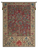 Tree of Life Red William Morris Belgian Tapestry