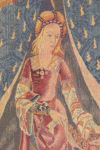 Dame au Chien I French Tapestry
