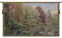 Monet Left Panel with Border Belgian Tapestry Wall Hanging